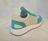 Жіночі кросівки Adidas Iniki Runner білі з зеленим, фото 6