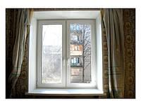 Окно металлопластиковое двустворчатое Рехау Бриллиант Rehau Brillant, фото 1