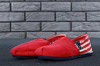 Эспадрильи женские в стиле Toms код товара KD-10599. Красные