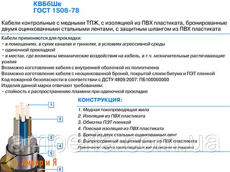 Кабель КВБбШв 19x2,5, фото 2