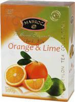 """Чай черный """"Маброк"""" Фрут Ти - Апельсин и Лайм 100 гр."""