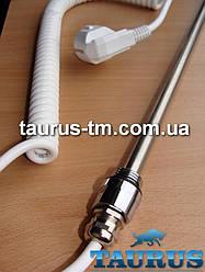 Електротена Чехія chrome під обігрів в полотенцесушитель, батарею, фанкойл, термостат на 85С; Потужність 300-500W