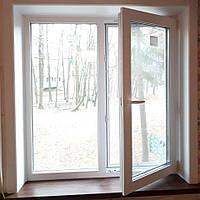 Окно металлопластиковое двустворчатое Rehau Euro 70 с монтажом и доставкой , фото 1