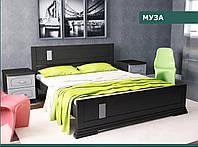 """Кровать деревянная """"Муза 160х200 """" из натурального дерева двуспальная"""