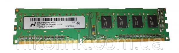 Память Micron DDR3 4GB PC3-12800U (1600Mhz) (MT8JTF51264AZ-1G6E1)(8x1) комиссионный товар