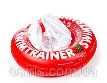 Круг надувной детский SWIMTRAINER красный для безопасного обучения детей плаванию (3 мес. - 4 года)
