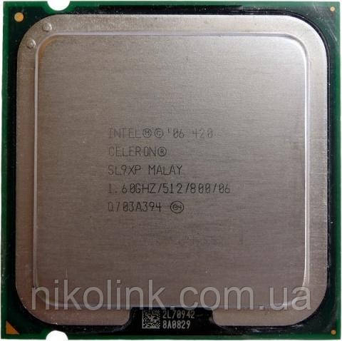 Процесор Intel Celeron 420 1.6 GHz/512K/800MHz s775, (BX80557420), Tray, б/в