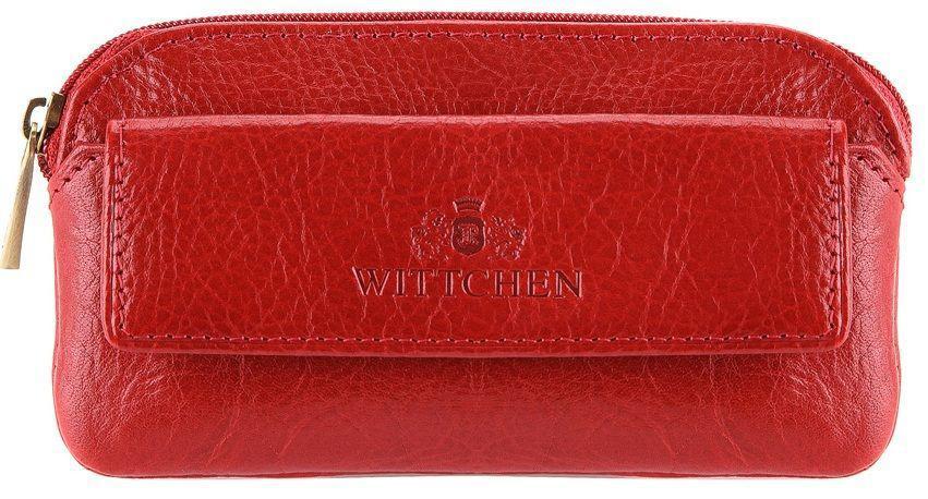 Кожаная ключница красного цвета WITTCHEN 21-2-265-3, Красный