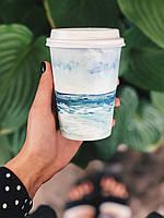 Бумажный цветной стаканчик - МОРЕ (500 мл.)