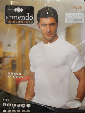 Футболка мужская белого цвета Armendo 1004, фото 2