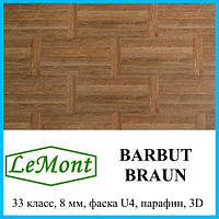 Ламинированный пол для гостинной  толщиной 8 мм LeMount Traditional 33 класс Barbut braun