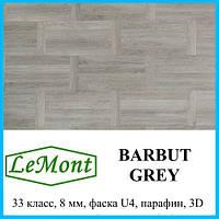 Ламинат с защитным покрытием толщиной 8 мм LeMount Traditional 33 класс Barbut grey