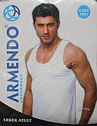 Белая мужская майка 3XL 4XL 5XL Armendo 1001