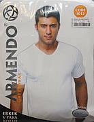Футболка мужская серого и черного цвета Armendo 1012