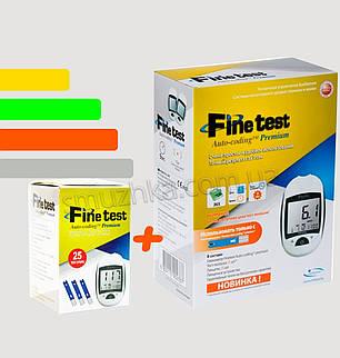 Глюкометр Fine Test Premium - Файнтест+25 тест-полосок, фото 2