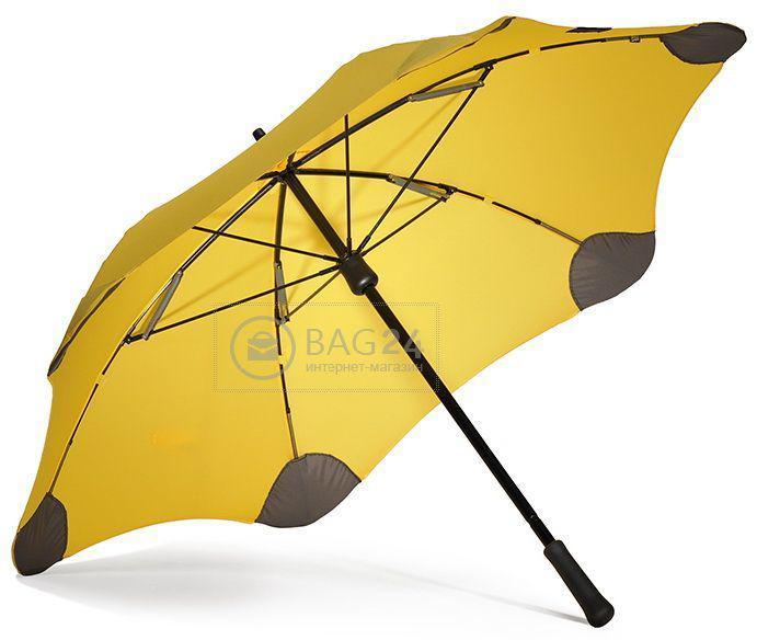Красивый желтый механический женский зонт, противоштормовой BLUNT Bl-mini-yellow, Желтый