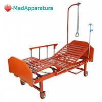 Кровать медецинская механическая MM-18Н (2 функц) ЛДСП с полкой и обеденным столиком