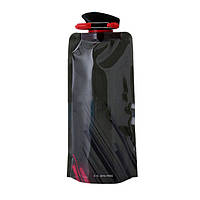 М'яка пляшка для спорту LUX 700 мл, чорна, фото 1