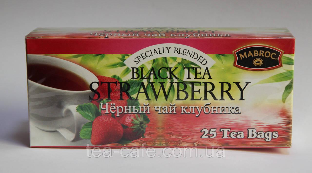 """Чай """"Маброк"""" Фрут Ти - Полуничний 25 пак."""
