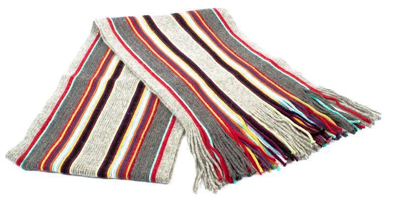 Шерстяной шарф в стилее Пол Смит ETERNO ES3016-15, Серый