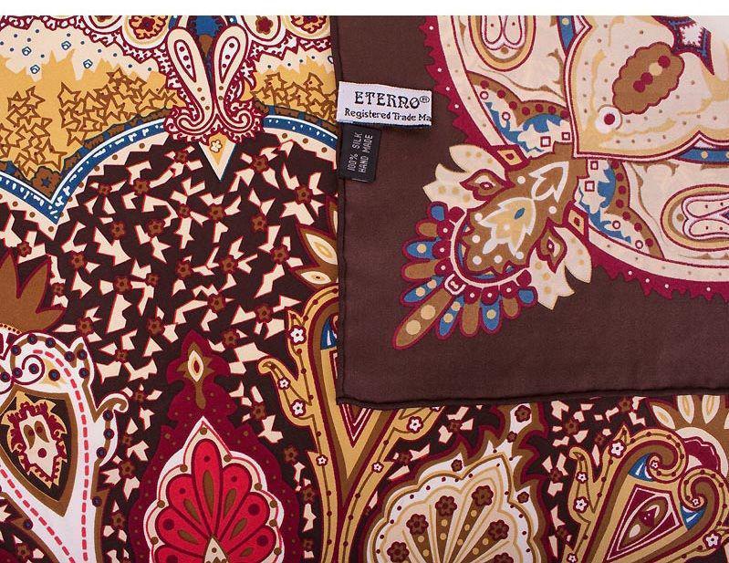 Платок для женщин с интересным узором. ETERNO ES0611-9-brown, Коричневый