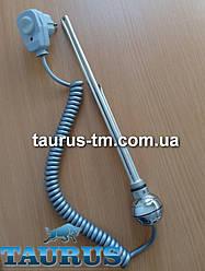 Круглый мини ТЭН TERMA REG2 chrome с кнопкой питания для полотенцесушителя (термостат 60С) 200-600W