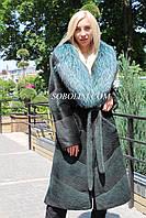 Шуба из южно-американского бобра с шалевым воротником из чернобурки, фото 1