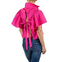 Блузка с расклешенными рукавами воланами Shk Mode (Европа) Фуксия