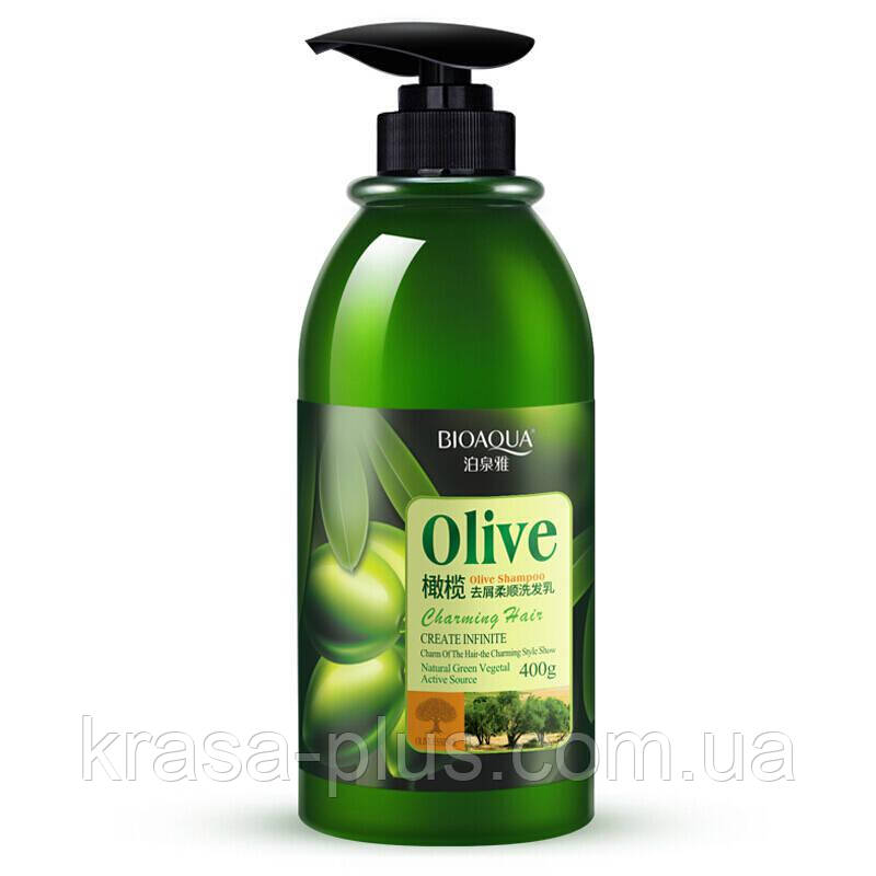 BIOAQUA Olive Шампунь для волосся з оливою, 400 мл