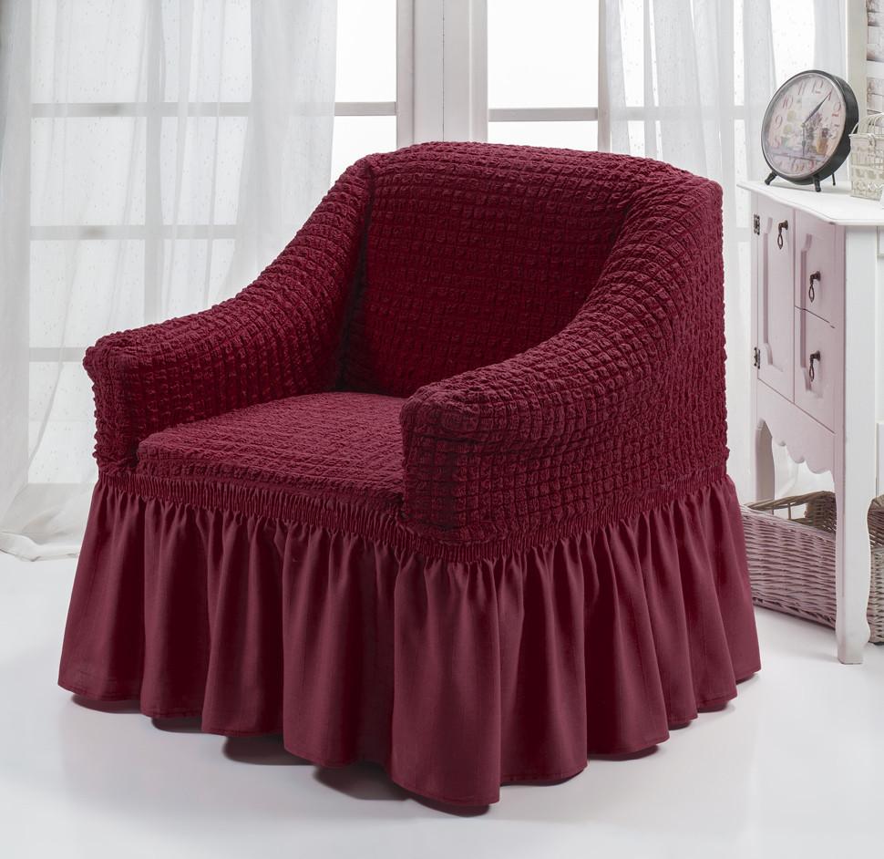Чехол на кресло с оборкой DO&CO , Турция (1шт)   Цвета разные