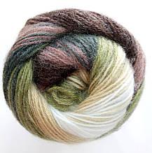 Пряжа для вязания Ангора голд батик ALIZE код 1893