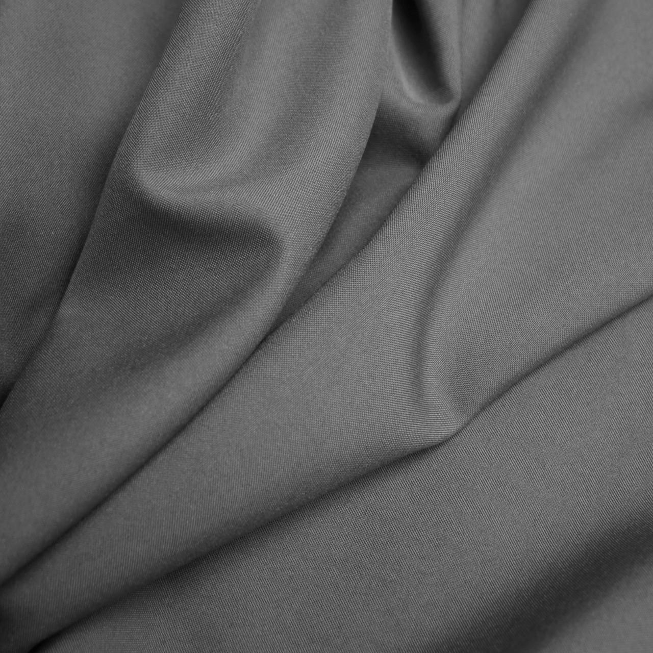 Костюмная ткань габардин серый