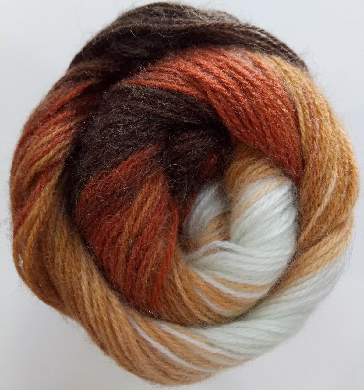 Пряжа для вязания Ангора голд батик ALIZE код 2626