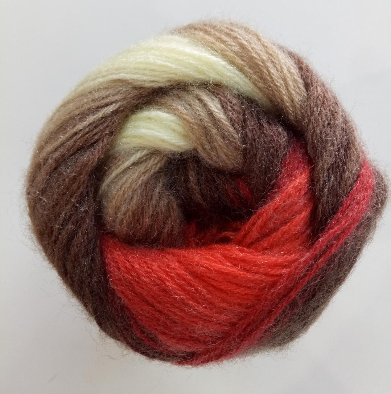 Пряжа для вязания Ангора голд батик ALIZE код 4574