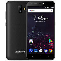"Смартфон Assistant AS 502 Shot 1/8Gb Black, 13+0.3/5Мп, 5"" IPS, 2500mAh, 2sim, MT6580, 3G, 4 ядра, 12 мес., фото 1"