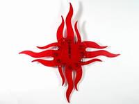 Часы настенные фигурные Большой крест Огни