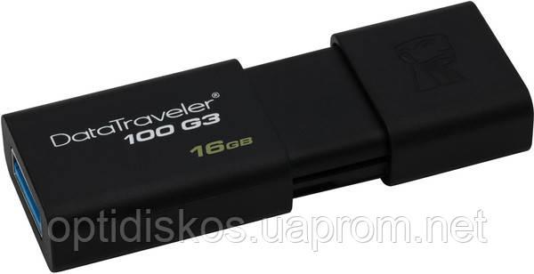 Флешка Kingston Flash Drive DT100 G3 16Gb, USB 3.0, черная