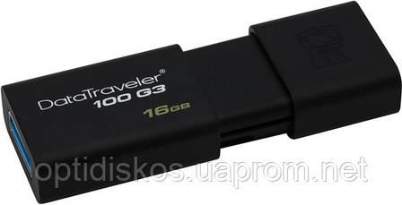 Флешка Kingston Flash Drive DT100 G3 16Gb, USB 3.0, черная, фото 2