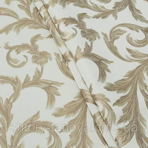 Портьєра, квітковий принт золото