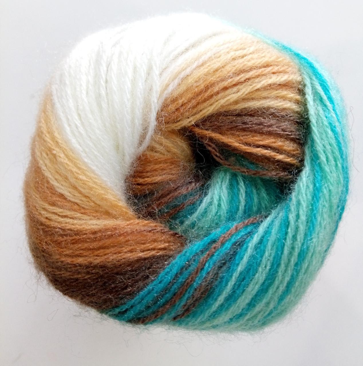 Пряжа для вязания Ангора голд батик ALIZE код 4603