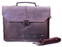 Стильный кожаный мужской портфель ETERNO ET6133, Серый