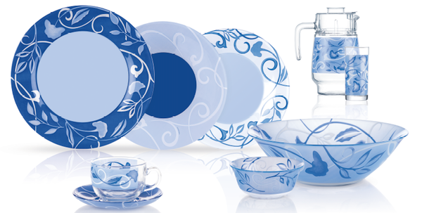 Plenitude Blue Сервиз столовый 46 пр. Luminarc N4871
