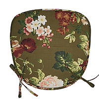 Подушка трапеция  хлопковая  Simple flowers 40x40x2 см
