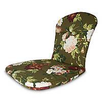 Матрас на кресло Кедр на Ливане Сан-Бич серия Simple flowers 79x41x3 см Зеленый (1001)