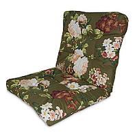 Матрас на кресло Кедр на Ливане Уют маленький серия Simple flowers 80x50x7 см Зеленый (1081)