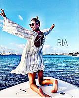 Женская легкая пляжная туника в полосочку , фото 1
