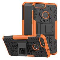 Чехол Huawei P Smart / Enjoy 7S / FIG-LX1 / FIG-LA1 / FIG-LX2 противоударный бампер оранжевый