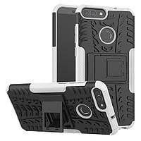 Чехол Huawei P Smart / Enjoy 7S / FIG-LX1 / FIG-LA1 / FIG-LX2 противоударный бампер белый