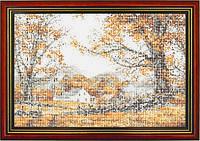 Схема для вышивки бисером «Домик в осеннем лесу»