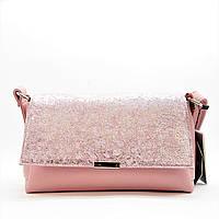 Интересная женская кожаная сумочка розового цвета UUP-754849, фото 1